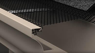 Lock on gutter guard installs on the K style gutter.